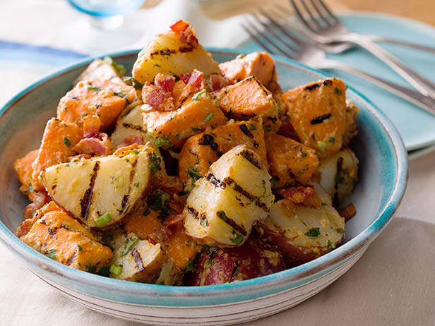 Grilled Potato Salad with Bacon-Green Onion Vinaigrette